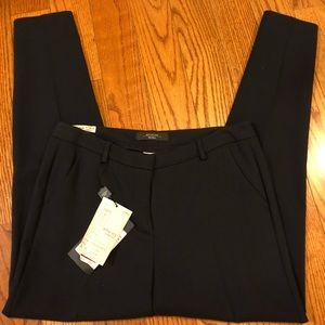 NWT Max Mara Slim Cigarette Navy Trousers